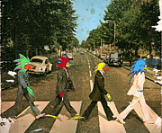 Abbey Road Mixed Media Prints -  Abbey Road Lasor Beatles Print by Futur  Lasor Now