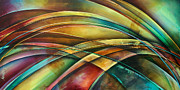 Bands Painting Prints -  Abstract  L1 Print by Michael Lang