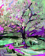 Ginette Fine Art LLC Ginette Callaway -  Abstract Art Tree in Bloom by Ginette