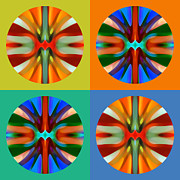 Circle Abstracts Digital Art -   Abstract Circles and Squares 2 by Amy Vangsgard