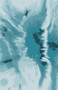 Snow Posters Digital Art Posters -  abstract -ICE CAPES FALLING Poster by Sherri  Of Palm Springs