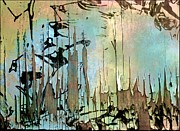 Peeling Paint Mixed Media -  Abstract Woodlands  by Elaine Manley