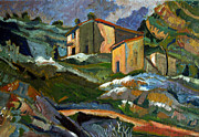 Charlie Spear Prints -  After Houses at the LEstaque - Paul Cezanne Print by Charlie Spear