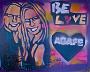 Law Of Attraction Prints -  Agape Be Love Print by Tony B Conscious