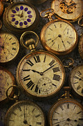 Aged Pocket Watches Print by Garry Gay