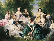 Ladies-in-waiting Art - © Aisaeverett Collection Winterhalter by Everett