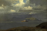 Famous Artists - Alcatraz San Francisco Bay by Albert Bierstadt