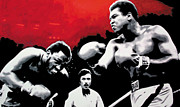 Cassius Clay Paintings - - Ali vs Fraser - by Luis Ludzska