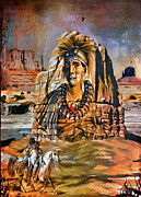 Desert Digital Art Originals -  American Indian by Andrzej  Szczerski