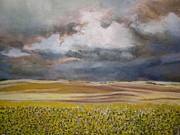 The Hills Drawings -    American Prairie Rain Sky by Trudy Storace
