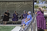 Elders Prints -  Amish Womens Shuffle Board Team - Sarasota - Florida Print by Madeline Ellis