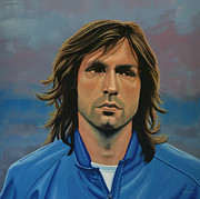 Basket Ball Painting Framed Prints -  Andrea Pirlo Framed Print by Paul  Meijering