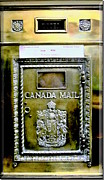 Coat Of Arms Digital Art -  Antique Canada Mail Box  by Danielle  Parent