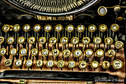 Typewriter Keys Photo Prints -  Antique Keyboard Print by Christopher Holmes