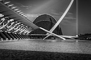Curved Framed Prints -   Architecture Valencia IV Framed Print by Erik Brede