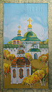Moscow Paintings -  At An Ancient Monastery by Khromykh Natalia
