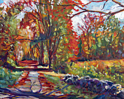 New River Valley Prints -  Autumn On The Hudson Print by  David Lloyd Glover