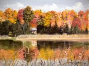 Splendor Paintings -  Autumn  Splendor by Vicky Path