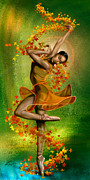 Ballet Dancer Posters -  Autumn Zephyr -  Seasonal Winds Series 1 of 4 Poster by Reggie Duffie