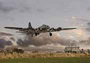 Flying Digital Art Prints -  B17- Airborne Print by Pat Speirs