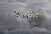 Sunset Digital Art -  B24 Liberator  446th Bomb Group by Pat Speirs