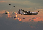 Warplane Prints -  B29 - Korea Print by Pat Speirs