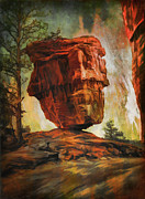 Old Digital Art Originals -  Balanced Rock  by Andrzej  Szczerski