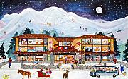 Ski Resort Paintings -  Banff International Hotel Alberta Canada by Virginia Ann Hemingson