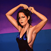 American Celebrities Posters -  Barbara Carrera Poster by Paul  Meijering