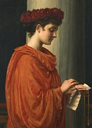 Red Robe Painting Posters -  Barine Poster by Sir Edward John Poynter