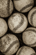 Baseball Glass -  Baseballs by Diane Diederich