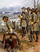 Robert E Lee Paintings -  Battle of Fredericksburg by American School