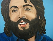 Beatles Mixed Media -  Bearded  PAUL McCARTNEY by Edward Pebworth