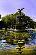 Central Park Photo Posters -  Bethesda Fountain - Central Park  Poster by Madeline Ellis