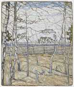 Famous Artists - Birch Trees by Abraham Manievich