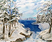 Metal Trees Originals -  Blanket of Ice by Sharon Duguay