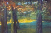 Waterscape Pastels Metal Prints -  Blazing Autumn Light Metal Print by Sandra McClure