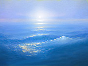 Blue Sea Print Prints -  Blue Blue Sea Print by Robert Foster