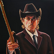 Singer Painting Prints -  Bob Dylan 2 Print by Paul  Meijering