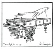 1876 Drawings Prints -  Bosendorfer Centennial Grand Piano Print by Ira Shander
