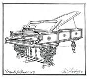 Bosendorfer Centennial Grand Piano Print by Ira Shander
