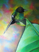 Hummingbird Pastels Framed Prints -  Breaktime Framed Print by Linda Weldon