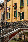 Bridge Greeting Cards Prints -   Bridge And House   Venice Italy Print by Xavier Cardell