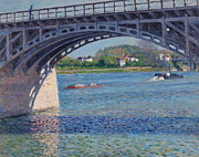 Gustave Caillebotte  -  Bridge at Argenteuil...