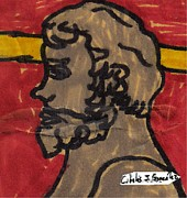 Ancient Rome Drawings -  Bust From Antiquity by Cibeles Gonzalez