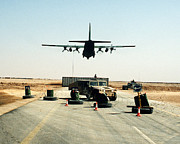 Iraq Posters Framed Prints -  C-130 Hercules transport aircraft Framed Print by Amy Denson