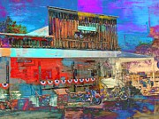 Independence Day Mixed Media -  Cafe in Manton CA by Irina Hays
