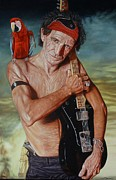 Keith Richards Painting Originals -  Captain Keef - Keith Richards by Mark Baker