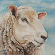 Lamb Paintings -  Centaquil  by Laura Carey
