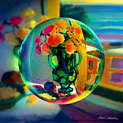 Still Life Digital Art Metal Prints -  Cercle La Vie en Rose  Metal Print by Robin Moline